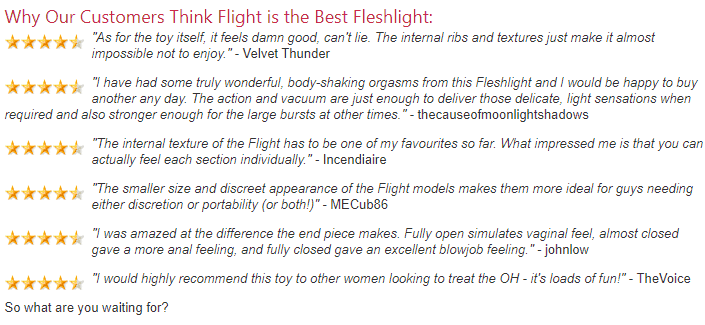 Fleshlight Review - Flight